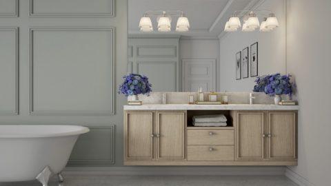 Интерьер ванной комнаты (+фото)