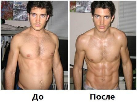 Бодибилдинг, до и после применения кленбутерол