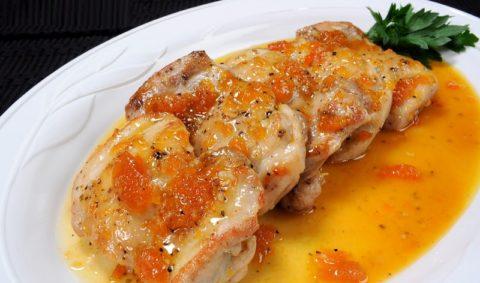 Рецепт курицы с пряными овощами, абрикосами в маринаде