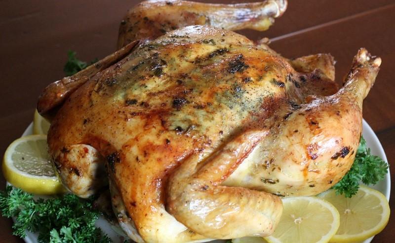 Курица в духовке в рукаве, фото