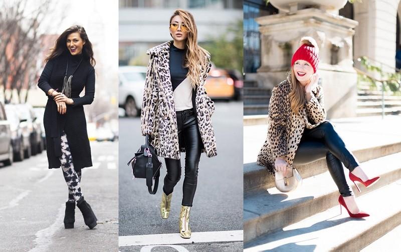 С чем носить легинсы зимой- фото