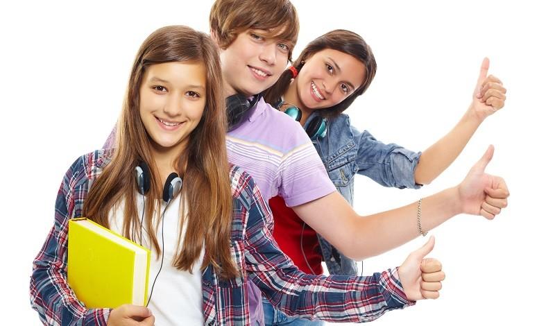 Веселые подростки