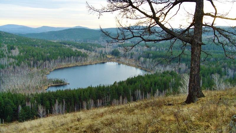 Пустое озеро в Сибири