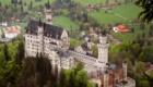 Замок Нойшванштайн с высоты птичьего полета