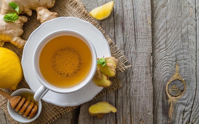 Чай с лимоном, имбирем и медом