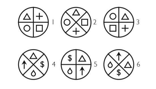 Выберите два рисунка, которые не образуют пару