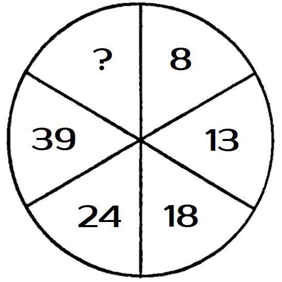 Какое число должно стоять в сегменте с вопросительным знаком?