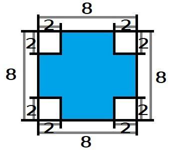 Во сколько раз суммарная площадь закрашенных областей меньше площади всего квадрата
