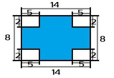 Какой процент от общей площади прямоугольника составляет закрашенная часть