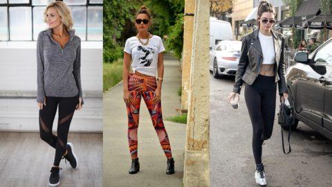 С чем носить легинсы — примеры, много фото